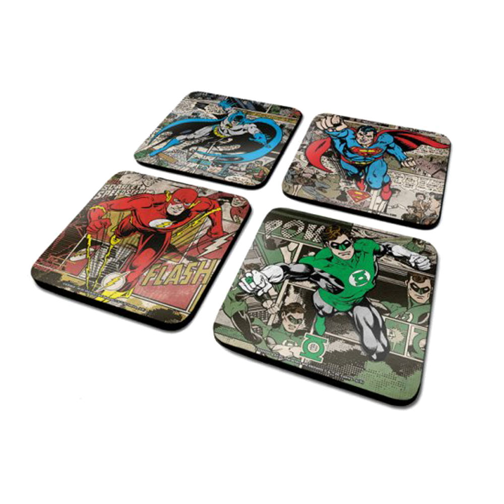 "DC Comics ""Burst"" Set of Coasters"