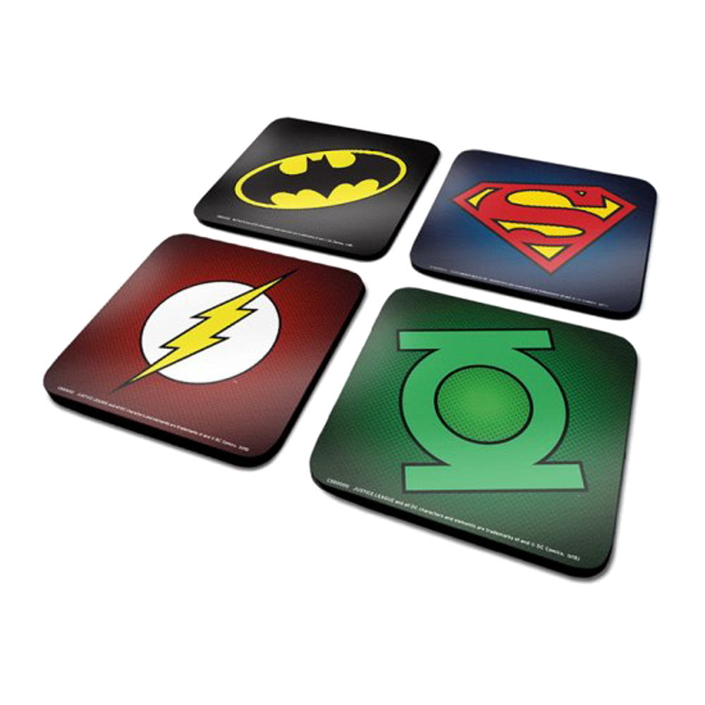 "DC Comics ""Symbols"" Set of Coasters"