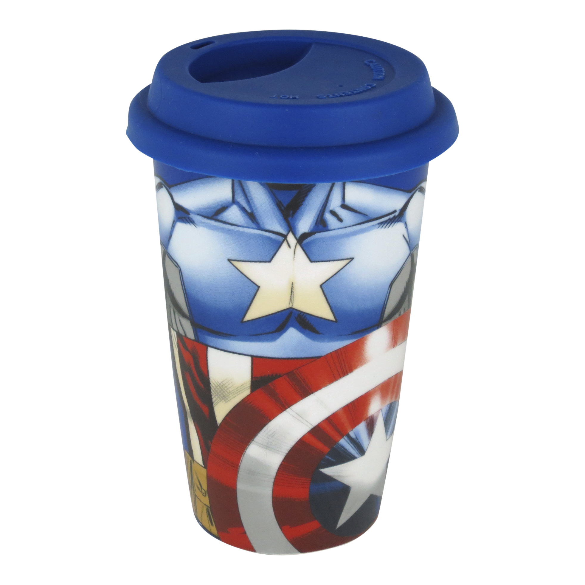 Captain America Torso Ceramic Travel Mug