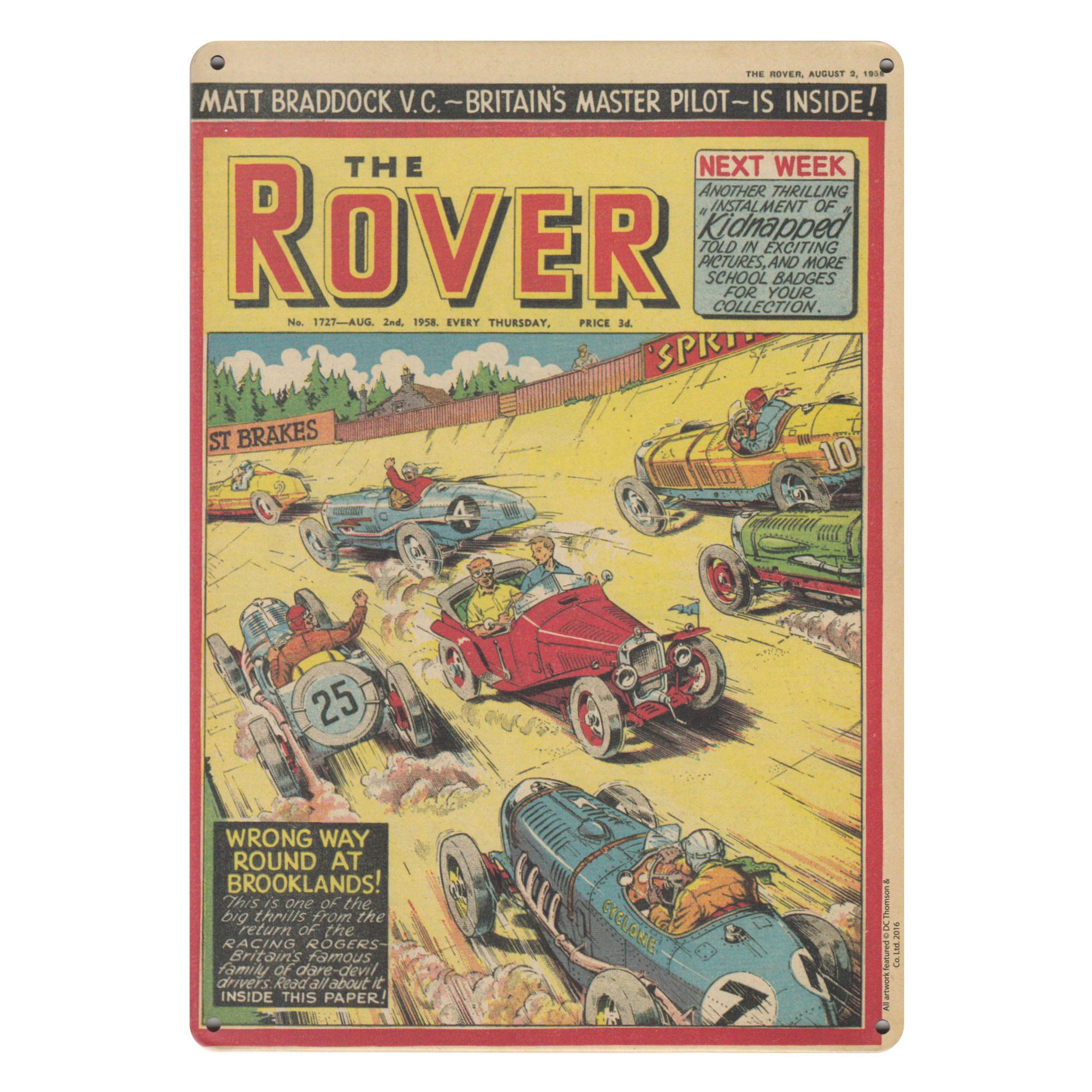 THE ROVER COMIC A5 STEEL SIGN TIN PICTURE WALL ART RETRO PLAQUE ...