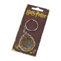 Harry Potter Deathly Hogwarts Crest Metal Keyring Thumbnail 1
