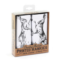 2 Pack Of Fighting Hares Hankies