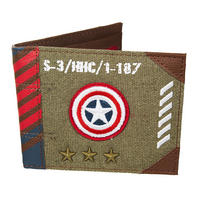 Captain America Vintage Army Canvas Wallet Thumbnail 1