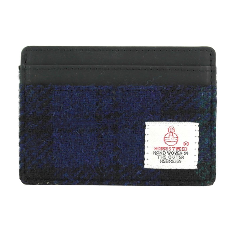 Harris Tweed Blackwatch Tartan Card Holder