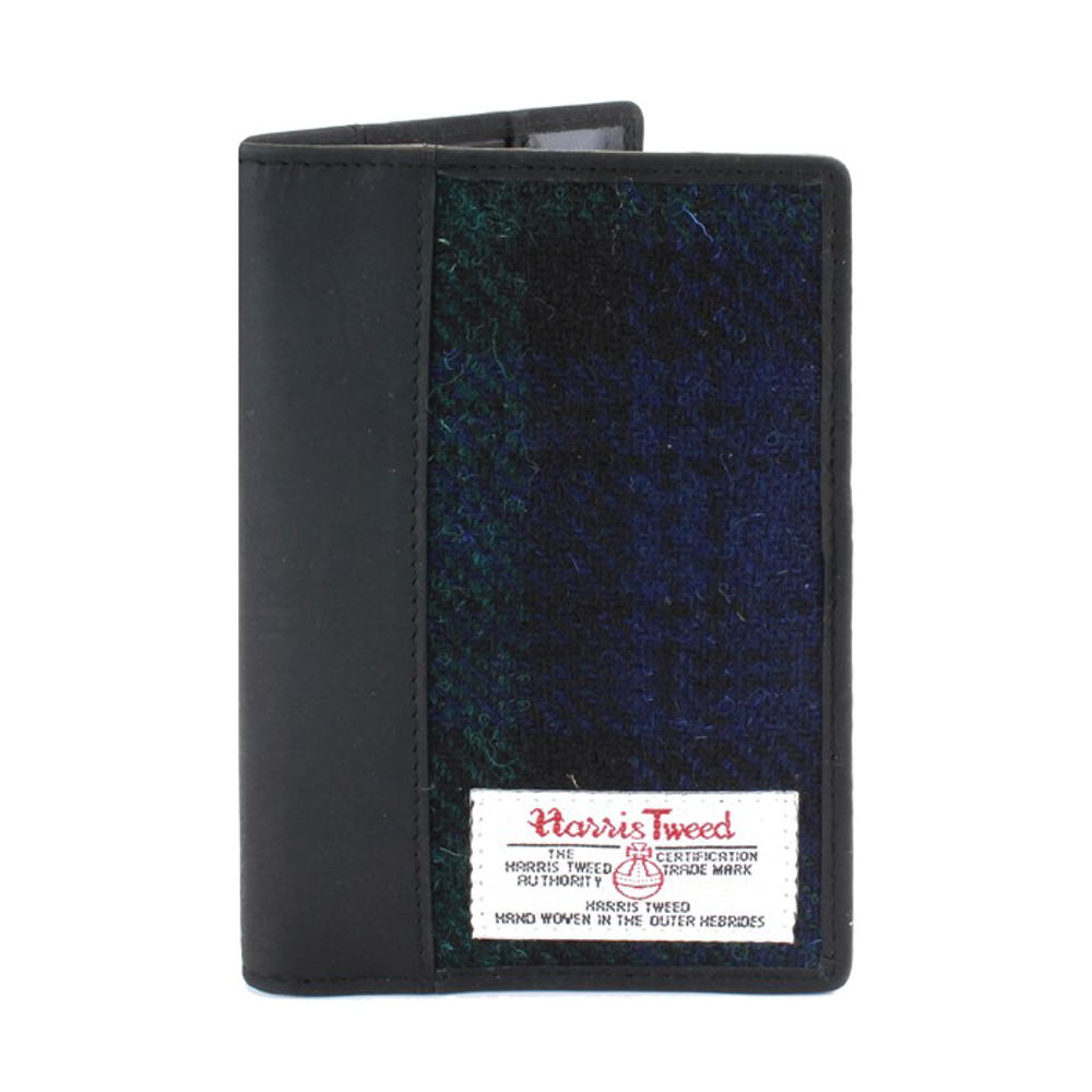Passport Holder with Harris Tweed Blackwatch Tartan