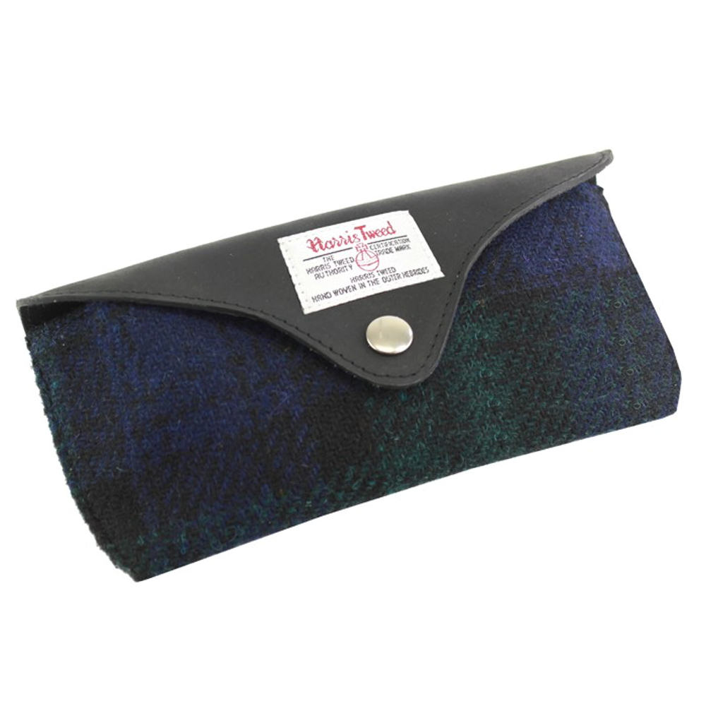 Harris Tweed Blackwatch Tartan Glasses Case