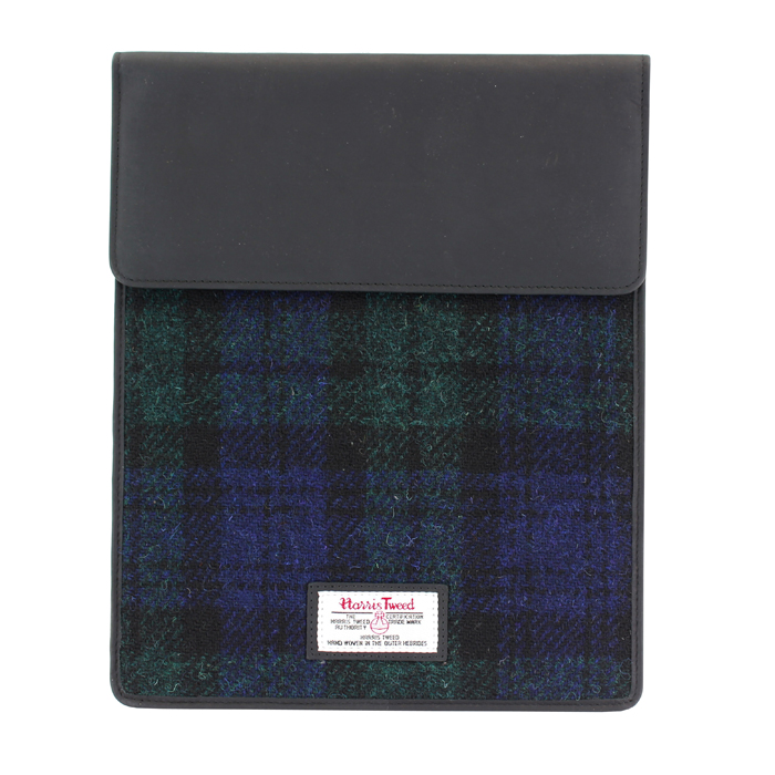 Harris Tweed Black Watch Tartan iPad Sleeve