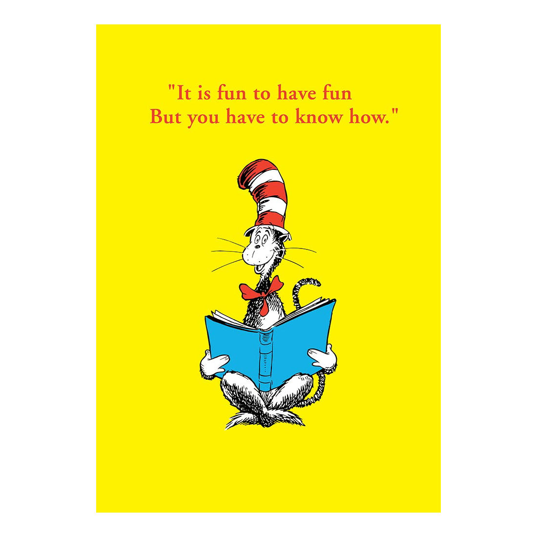 dr seuss its fun to have fun greeting card birthday gift cat in the