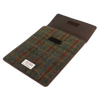 Harris Tweed Green & Red Tartan iPad Mini Sleeve Thumbnail 1