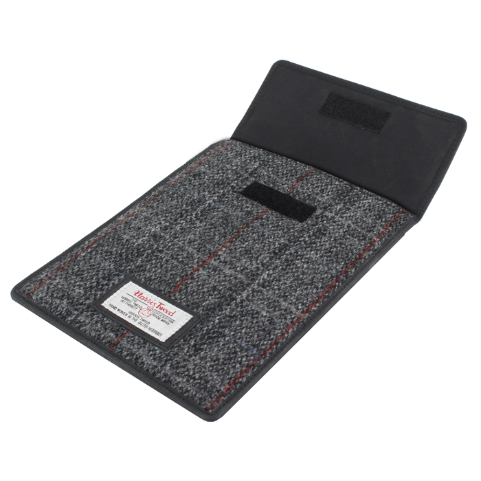 Harris Tweed Black & Grey Tartan iPad Mini Sleeve