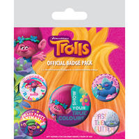 Trolls True Colours Badge Set