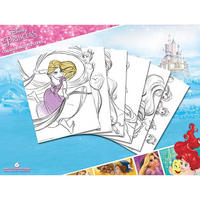 6 Disney Princess Colour & Frame Posters Thumbnail 1