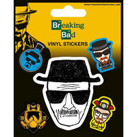 Breaking Bad Heisenberg Sketch Sheet of Vinyl Stickers Thumbnail 1