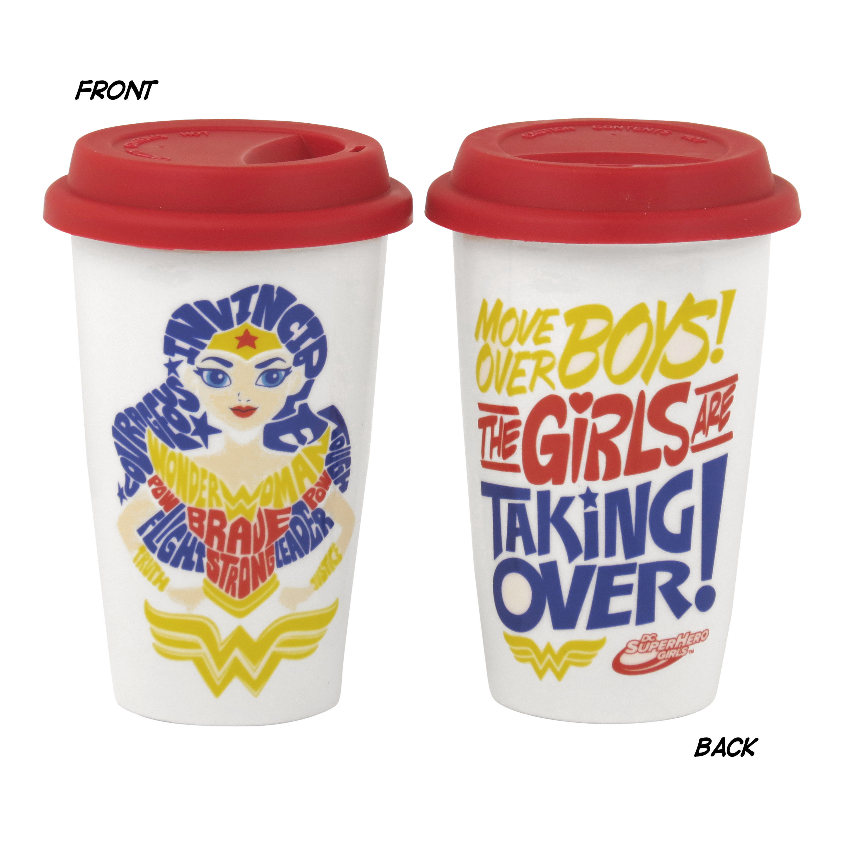 "DC Super Hero Girls ""Girls Are Taking Over"" Travel Mug"