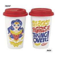 "DC Super Hero Girls ""Girls Are Taking Over"" Travel Mug Thumbnail 1"