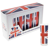 Union Jack Flag Set of 4 Shot Glasses Thumbnail 1