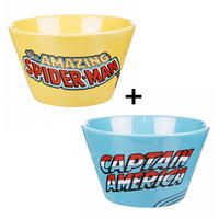 Set of 2 Ceramic Bowls - Captain America & Spider-Man Thumbnail 2