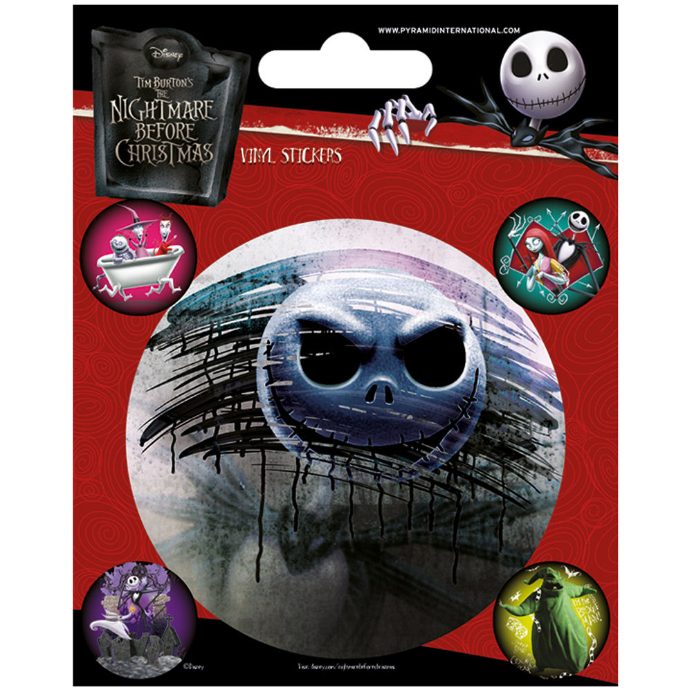 The Nightmare Before Christmas Sheet of Vinyl Stickers | Stickers ...