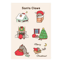 Pusheen Santa Claws Greeting Card Thumbnail 1