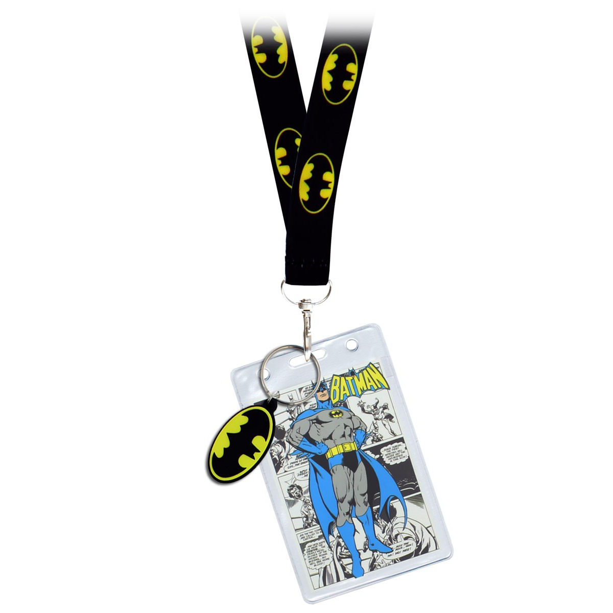Batman Logo Lanyard, ID Pocket & Keyring