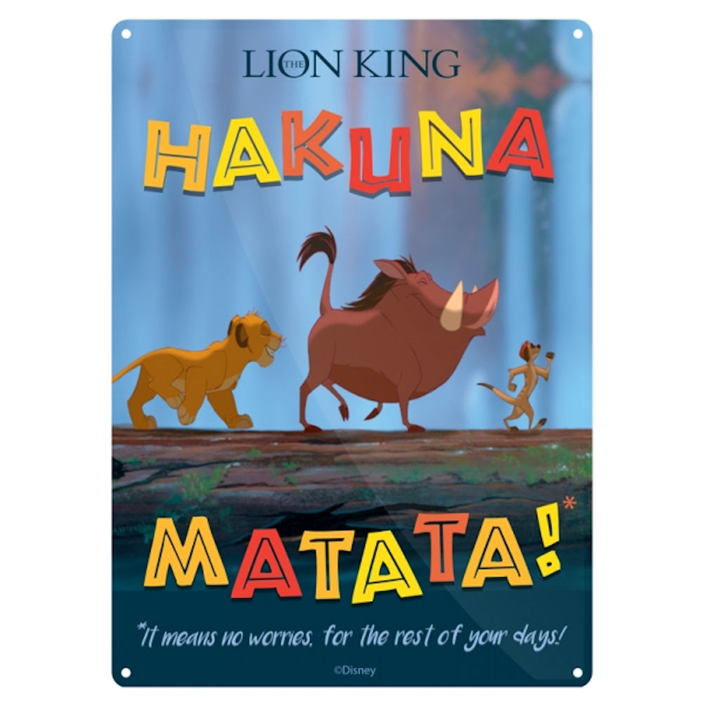 "The Lion King ""Hakuna Matata"" A5 Steel Sign"