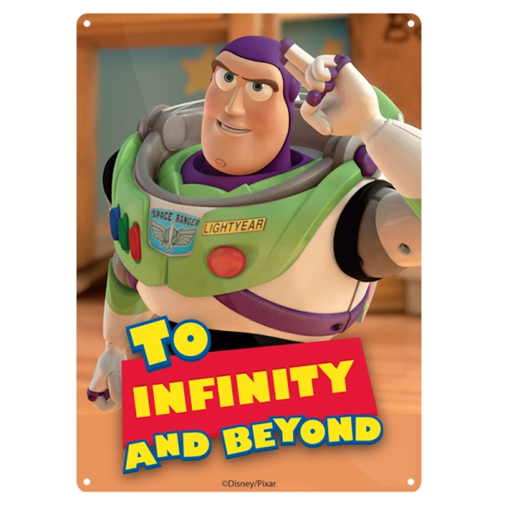 "Toy Story ""To Infinity And Beyond"" A5 Steel Sign"