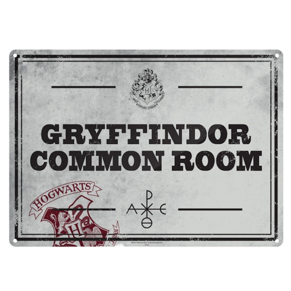 Harry Potter Gryffindor Common Room A5 Steel Sign