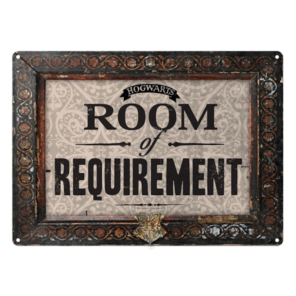 Harry Potter Room Of Requirement A5 Steel Sign