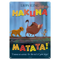 "The Lion King ""Hakuna Matata"" A5 Steel Sign Thumbnail 1"