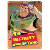 "Toy Story ""To Infinity And Beyond"" A5 Steel Sign Thumbnail 1"