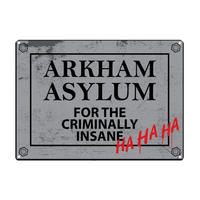 Batman Arkham Asylum A5 Steel Sign Thumbnail 1