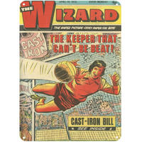 The Wizard Comic A5 Steel Sign