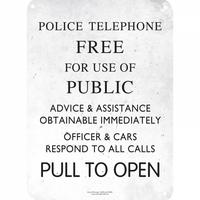 Doctor Who Police Box Sign A5 Steel Sign Thumbnail 1
