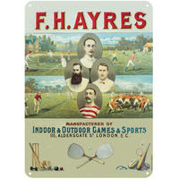 F H Ayres Indoor & Outdoor Games & Sports A5 Steel Sign
