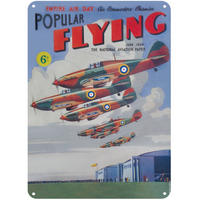 Popular Flying Magazine A5 Steel Sign