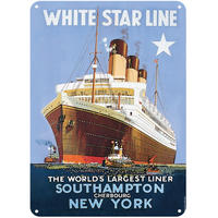 White Star Line A5 Steel Sign