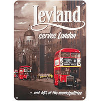 Leyland Bus Serves London A5 Steel Sign Thumbnail 1