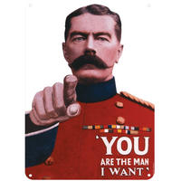 Lord Kitchener You Are The Man I Want A5 Steel Sign