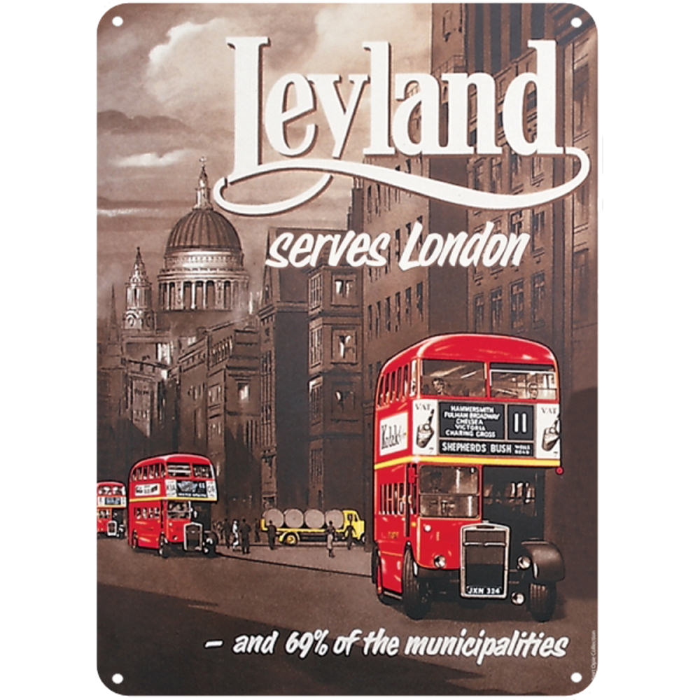 Leyland Bus Serves London A5 Steel Sign