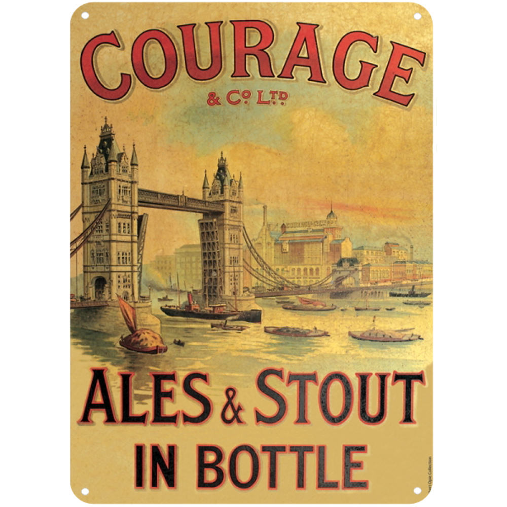 COURAGE ALES & STOUT A5 STEEL SIGN TIN PICTURE WALL ART PLAQUE ...