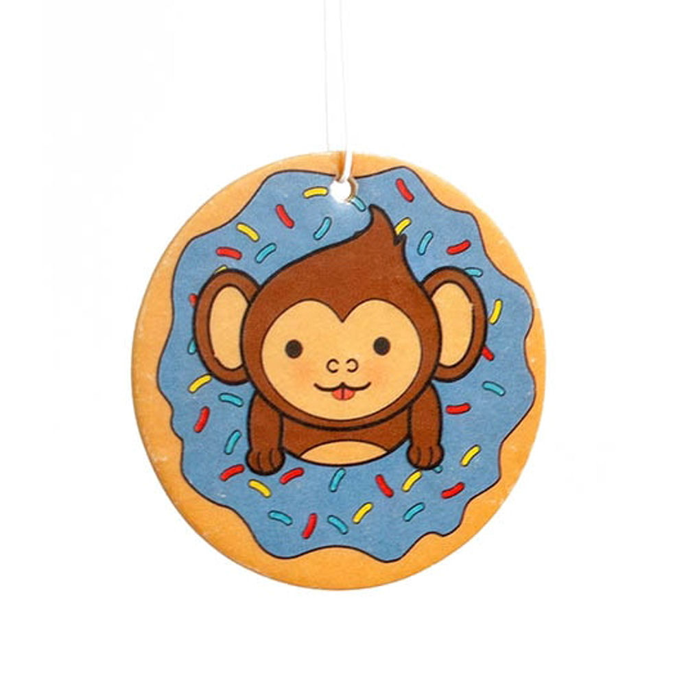 Monkey Doughnut Blueberry Scented Air Freshener