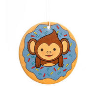 Monkey Doughnut Blueberry Scented Air Freshener Thumbnail 1