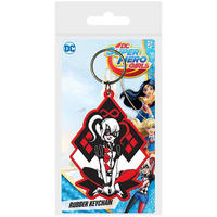 DC Super Hero Girls Harley Quinn PVC Keyring Thumbnail 1