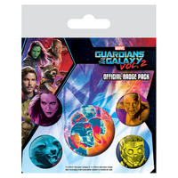 Guardians of the Galaxy Vol. 2 Cosmic Faces Badge Set Thumbnail 1