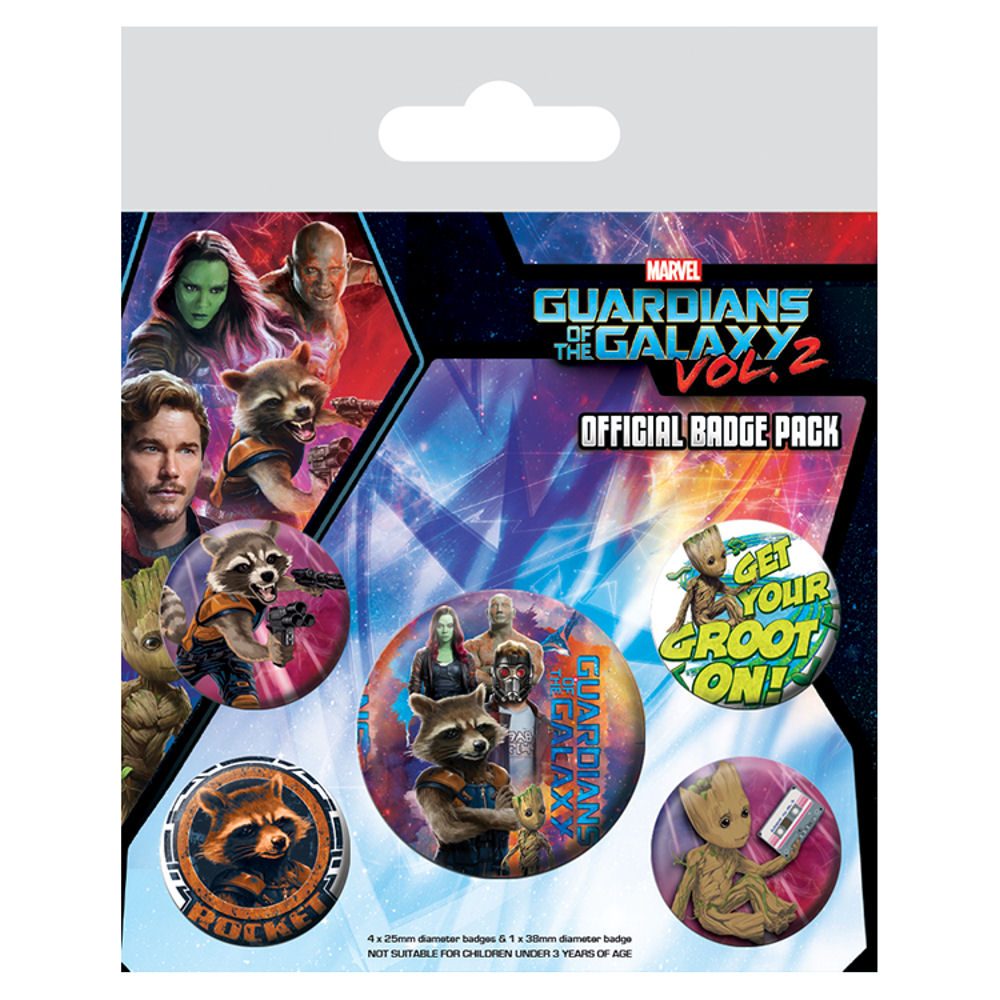 Guardians of the Galaxy Vol. 2 Rocket & Groot Badge Set