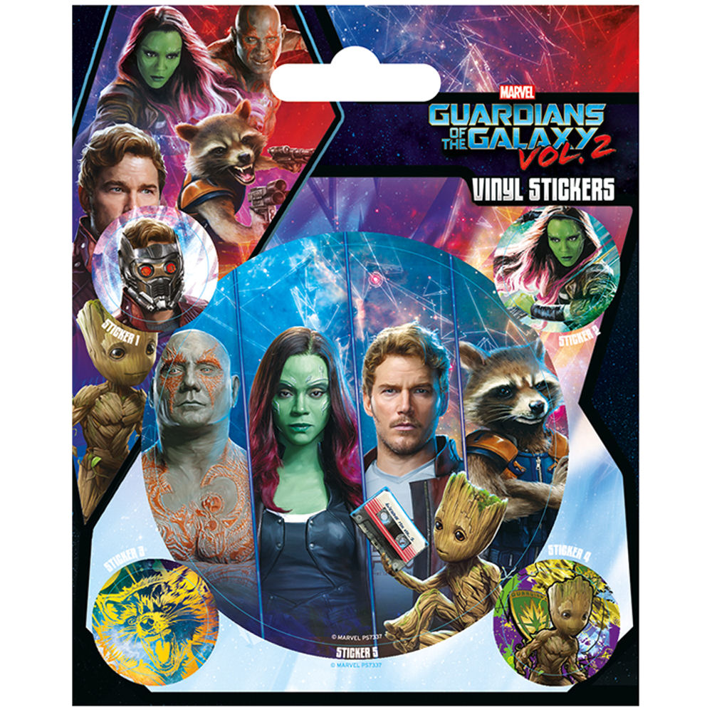 Guardians of the Galaxy Vol. 2 Team Panels Sheet of Vinyl Stickers