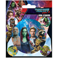 Guardians of the Galaxy Vol. 2 Team Panels Sheet of Vinyl Stickers Thumbnail 1