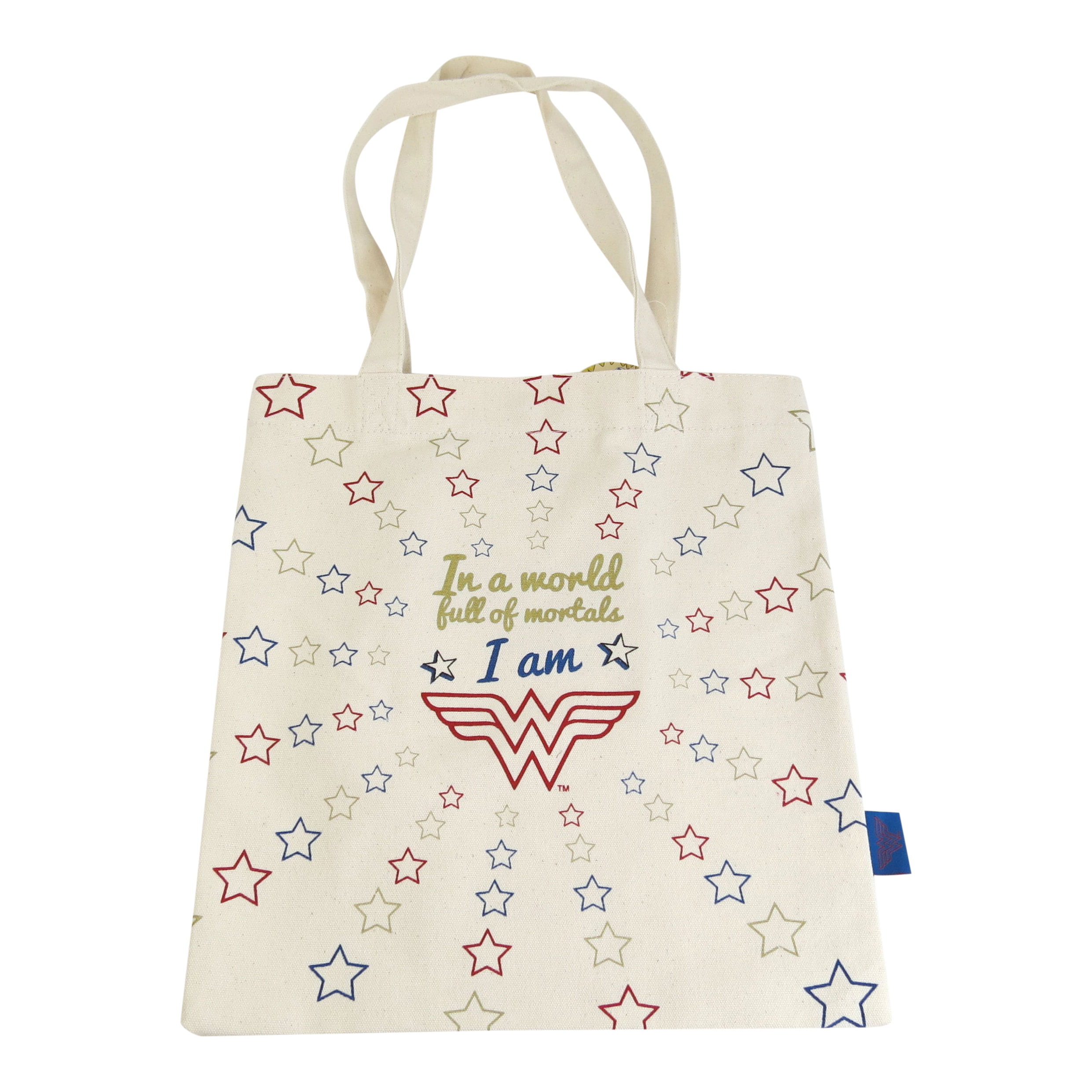 In A World Of Mortals I Am Wonder Woman Cotton Per Bag Reusable Tote Justice