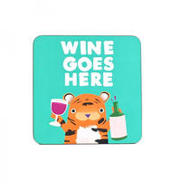 Jolly Awesome Wine Goes Here Coaster
