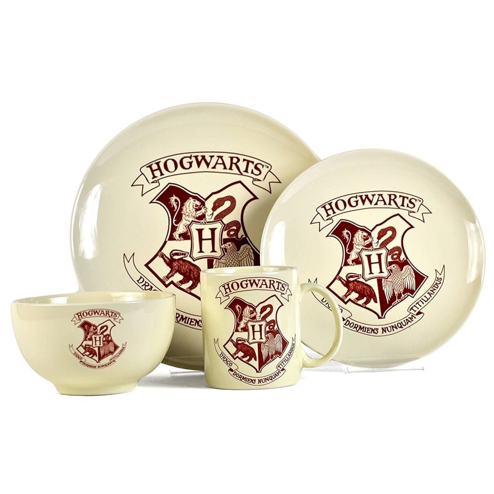Harry Potter Hogwarts Crest 4 Piece Dinner Set